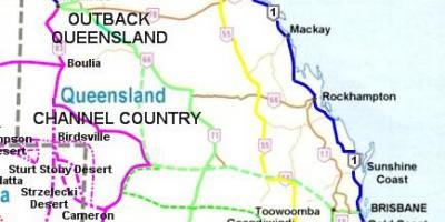 Kort Over Australien Og De Omkringliggende Lande Australien Og