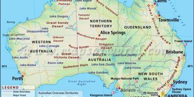 Australien Byer Kort Kort Over Australien Byer Australien Og
